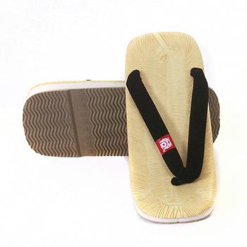 RMC Martin Ksohoh One Size Geta Black Strap Black Strap Unisex Hand Made Flip Flop Sandal RMC1460