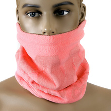 RMC MKWS Mens Reversible Neck Warmer Snood in Pink Fleece with Tsunami Wave Design REDM5502