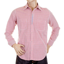 Yoropiko mens shirt 11131002 red check shirt YORO5299