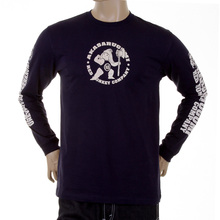 RMC Jeans MKWS Kintaro Akasarugumi Crew Neck Printed Regular Fit Long Sleeve T-Shirt in Black REDM5421