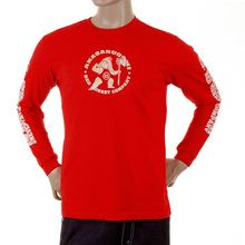 RMC Jeans MKWS Red Crew Neck Long Sleeve Regular Fit Akasarugumi Kintaro Printed T-Shirt REDM5422
