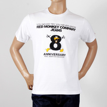 RMC Jeans 8th Anniversary Duck Short Sleeve White Regular Fit Crew Neck T-shirt REDM2711