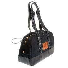 RMC Jeans Unisex Denim with Leather Hand Held Bag REDM5529