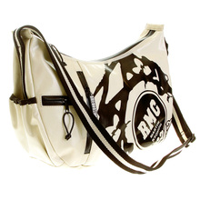 RMC Jeans Unisex Ivory Laminated Canvas Cyclist Fashion Shoulder Bag for Men REDM5571
