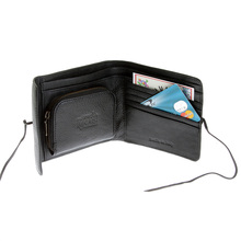 RMC Martin Ksohoh MKWS black Italian leather bill fold, credit card & coin pouch wallet REDM5696