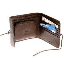 RMC Martin Ksohoh MKWS brown Italian leather bill fold, credit card & coin pouch wallet REDM5697