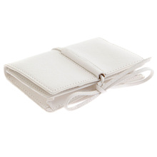 RMC Martin Ksohoh MKWS white Italian leather credit business card holder 1064-W266 REDM5712
