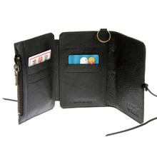 RMC Martin Ksohoh MKWS 3 fold black Italian leather wallet 256438 AA61N 1091 REDM5714