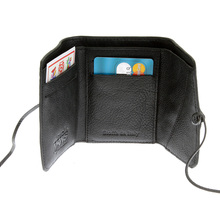 RMC Martin Ksohoh Wallet MKWS 3 fold black Italian leather mini wallet 152621 FFK1R 9791 REDM5731