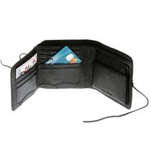 RMC Martin Ksohoh Wallet MKWS 3 fold black Italian leather landscape wallet REDM5736