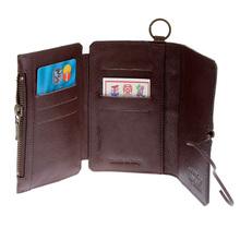 RMC Martin Ksohoh Wallet MKWS 3 fold brown horse hair wallet 152621 FFK1R 1060 REDM5766