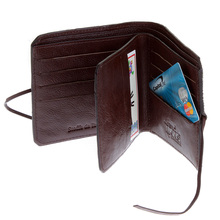 RMC Martin Ksohoh MKWS brown horse hair bill fold & credit car wallet with flap REDM5769