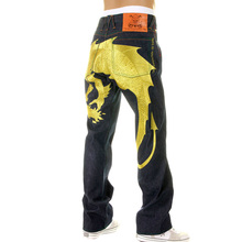 Yoropiko Hungry Dragon 574 Super Exclusive Selvedge Denim Jeans with Gold Embroidery YORO2878