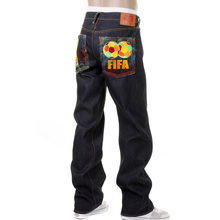 RMC Jeans Limited Edition Dark Indigo FIFA World Cup Vintage Cut Selvedge Raw Denim Jeans for Men REDM0003