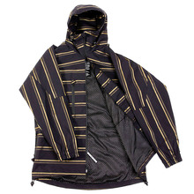 Yoropiko Martin Yat Ming Regular Fit Hooded Black with Gold Stripe Functional Jacket REDM3166
