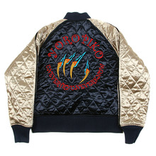 Yoropiko x RMC Jeans Fully Reversible Navy and Champagne Embroidered Hungry Dragon Claws Jacket YORO2135