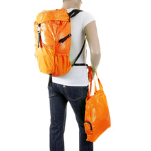 RMC MKWS Unisex Lightweight Nylon Backpack with Self-Coloured Signature Logo in Orange REDM2128