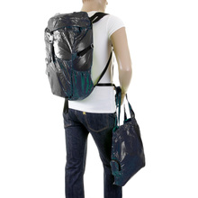 RMC MKWS Unisex 100% Nylon Lightweight Backpack with Top Flap Clip Closure in Navy REDM2130