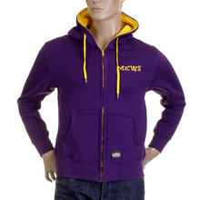 RMC Martin Ksohoh MKWS Regular Fit 100% Cotton Zipped Hooded Sweatshirt in Purple REDM2319