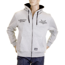 RMC MKWS marl grey NYPD zip up hoody REDM2335
