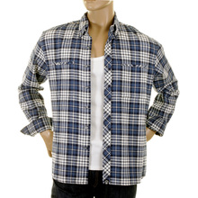 RMC Martin Ksohoh MKWS Regular Fit Long Sleeve Button Down Collar Blue Checked Shirt for Men REDM2297