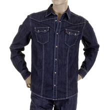 RMC Martin Ksohoh MKWS Mens Washed Denim Long Sleeve Regular Fit Shirt REDM2361