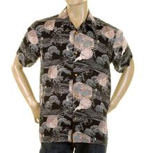 RMC Martin Ksohoh shirt navy Hawaiian printed shirt REDM0907