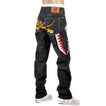 RMC Martin Ksohoh Exclusive Flying Tiger Black Slimmer Cut 1001 Raw Selvedge Denim Jean REDM0243