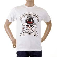 RMC Martin Ksohoh white smoking skull T-shirt REDM2091