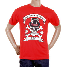 RMC Martin Ksohoh red smoking skull T-shirt REDM2090
