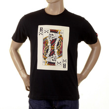 RMC Martin Ksohoh Regular Fit Poker Skull Playing Card Short Sleeve Crew Neck T Shirt in Black REDM1165