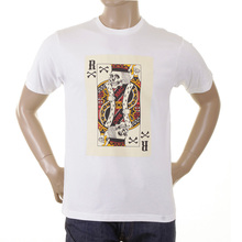RMC Martin Ksohoh white poker playing card T-shirt REDM1166