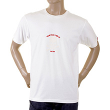 RMC Martin Ksohoh white with flocked ivory skull T-shirt REDM2121