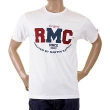 RMC Jeans Mens Short Sleeve Navy RQT1049 Regular Fit Cotton Vintage Crewneck T-Shirt REDM2095