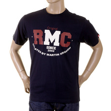 RMC Martin Ksohoh Mens Navy Short Sleeve RQT1049 Cotton Regular Fit Vintage Crewneck T-Shirt REDM2096