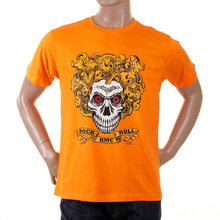 RMC Martin Ksohoh orange rock and roll skull T-shirt REDM2093