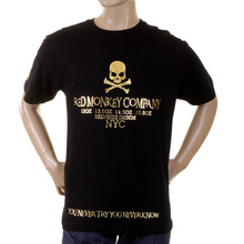 RMC Martin Ksohoh black with gold NYC skull T-shirt REDM2127