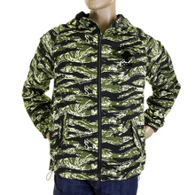 RMC Martin Ksohoh Mens Regular Fit Zip Up Tiger Camo Green Hooded Windbreaker Jacket REDM2302