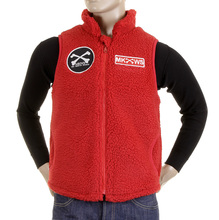 RMC Martin Ksohoh Red Papamamson Zip Up Regular Fit Sleeveless Plush Fleece Mens Vest Gillet REDM5828