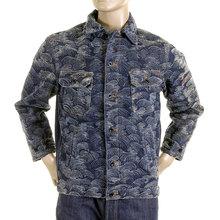 RMC Martin Ksohoh flock tsunami wave denim jacket REDM2821