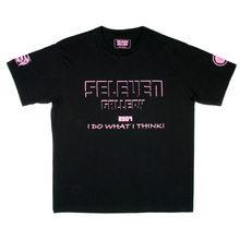 RMC Jeans x Yoropiko Collectors Item Limited Edition Regular Fit Pink Seleven T-Shirt in Black YORO3778