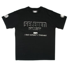 RMC Jeans x Yoropiko Collectors Item Limited Edition Regular Fit White Seleven T-Shirt in Black YORO3779
