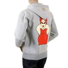 RMC Martin Ksohoh marl grey My Girl zipped hoodie sweatshirt REDM0995