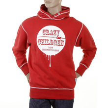RMC Martin Ksohoh red Crazy Children over head hooded sweatshirt REDM0924