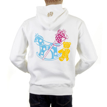 RMC Martin Ksohoh White Hooded Large RWC141264 Fit Multicolour Toy Friend Print Overhead Sweatshirt REDM0893
