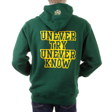 RMC Martin Ksohoh bottle green Untunk over head hooded sweatshirt REDM0932