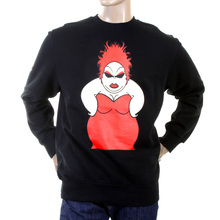 RMC Jeans Mens Large Fitting Black RWH141264 Crew Neck Red My Girl Printed Sweatshirt REDM0939