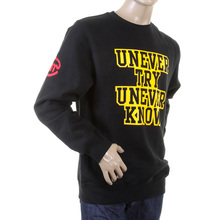RMC Martin Ksohoh Large Fitting Black RWC141264 Crew Neck Yellow on Black UNTUNK Printed Sweatshirt REDM0647