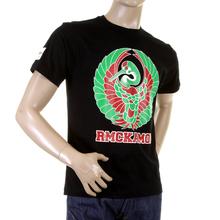 RMC Martin Ksohoh black Japanese Kamon T-shirt REDM0951