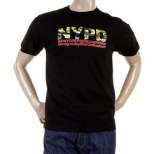 RMC Martin Ksohoh Short Sleeved RQT11063 Regular Fit Crewneck NYPD Camo Printed T Shirt in Black REDM0991